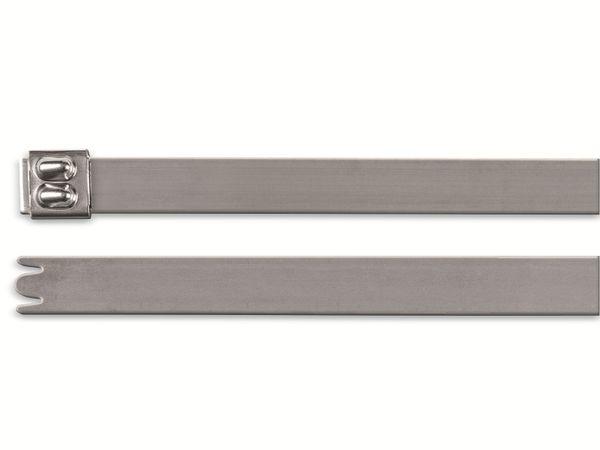 Edelstahl-Kabelbinder, HellermannTyton, 111-93089, 201x4, 1 Stück - Produktbild 2