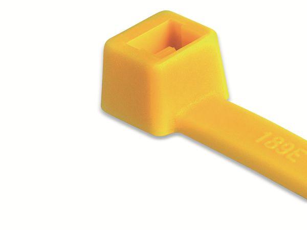 Kabelbinder innenverzahnt, HellermannTyton, 116-08014, 210x4, gelb, 100 Stück