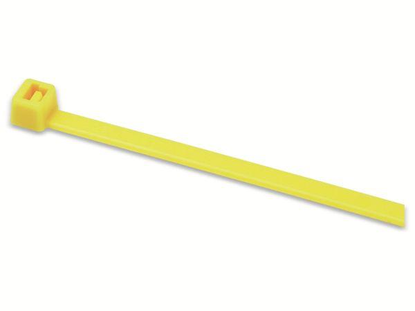 Kabelbinder innenverzahnt, HellermannTyton, 116-08014, 210x4, gelb, 100 Stück - Produktbild 3