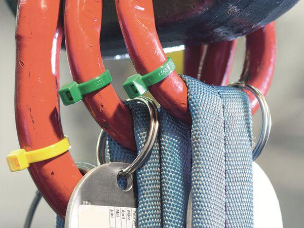 Kabelbinder innenverzahnt, HellermannTyton, 116-08014, 210x4, gelb, 100 Stück - Produktbild 4