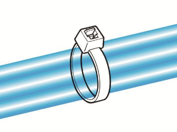 Kabelbinder innenverzahnt, HellermannTyton, 116-08014, 210x4, gelb, 100 Stück - Produktbild 5
