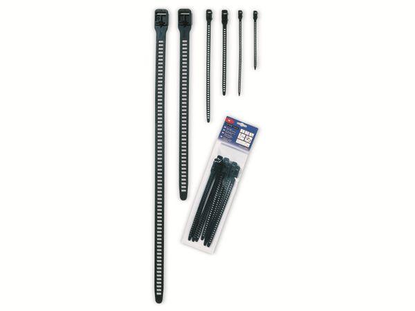 Kabelbinder lösbar, HellermannTyton, 115-11270, Softfix®, M, 260x11, 8 Stück - Produktbild 2