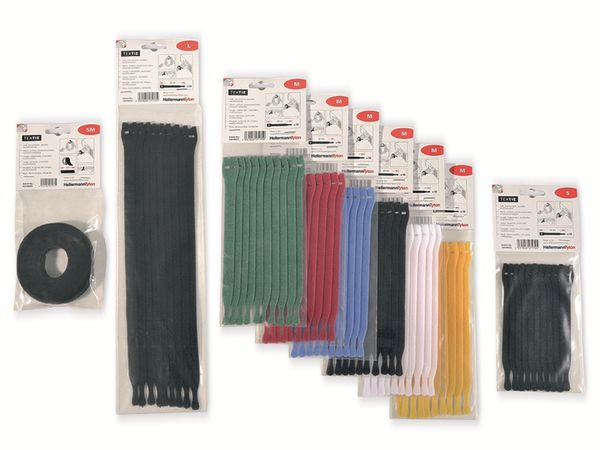 Kabelbinder lösbar, HellermannTyton, 130-00012, 150x12, schwarz, 10 Stück - Produktbild 3