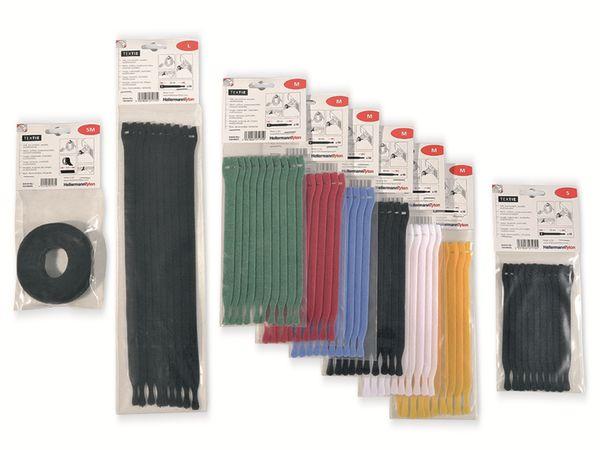 Kabelbinder lösbar, HellermannTyton, 130-00013, 200x12, schwarz, 10 Stück - Produktbild 3