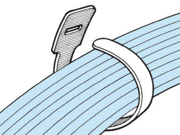 Kabelbinder lösbar, HellermannTyton, 130-00021, 200x12, weiß, 10 Stück - Produktbild 6