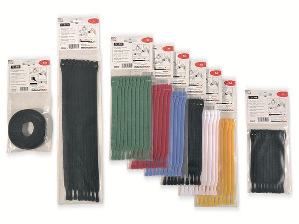 Klett-Kabelbinder lösbar, HellermannTyton, 130-00022, schwarz, 25 Meter - Produktbild 3