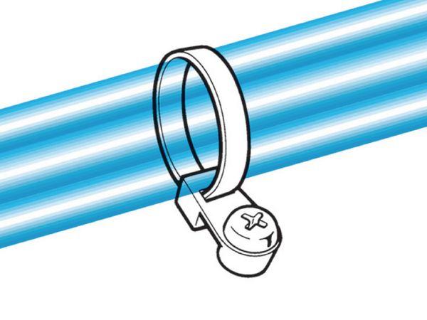 Kabelbinder mit Befestigungselement, HellermannTyton, 113-05019, 215x4, natur, 100 Stück - Produktbild 2