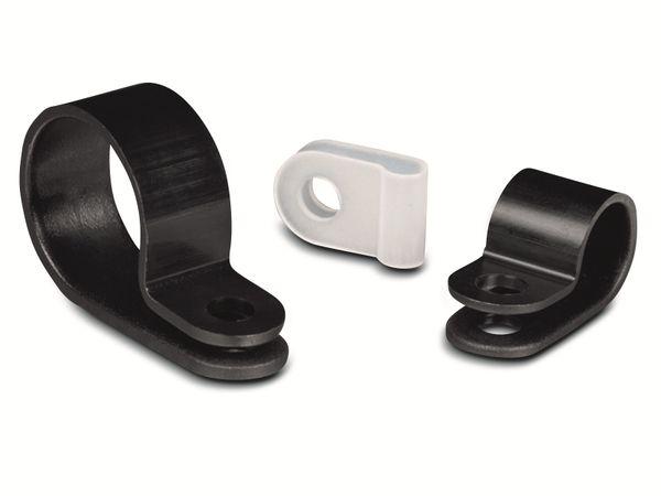 Kabelschelle, HellermannTyton, Snapper, Abdeckung, 211-60004, H5P, schwarz, 1 Stück