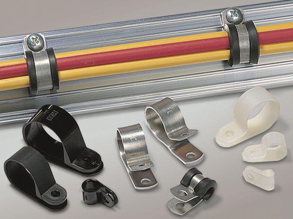 Kabelschelle, HellermannTyton, Snapper, Abdeckung, 211-60008, H9P, schwarz, 1 Stück - Produktbild 3