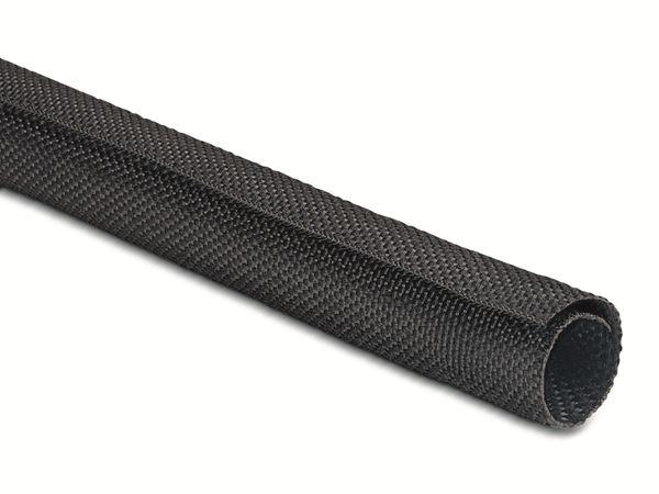 Gewebeschlauch, HellermannTyton, selbstschließend, 170-01017, Twist-In32, schwarz, 2 Meter