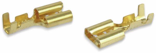 Flachsteckhülsen, 6,3 mm, 10 Stück