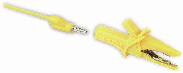 Krokodilklemme mit 4 mm Labor-Sicherheitsbuchsen - Produktbild 1
