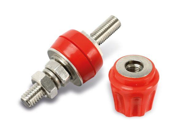 Polklemme, M6, 50 A, 4 mm, rot - Produktbild 1