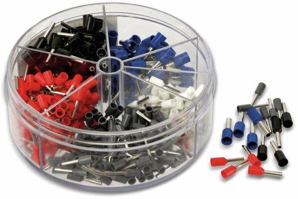 Sortiment Aderendhülsen 0,5 mm² - 2,5 mm², 400 Stück, in Kunststoffbox