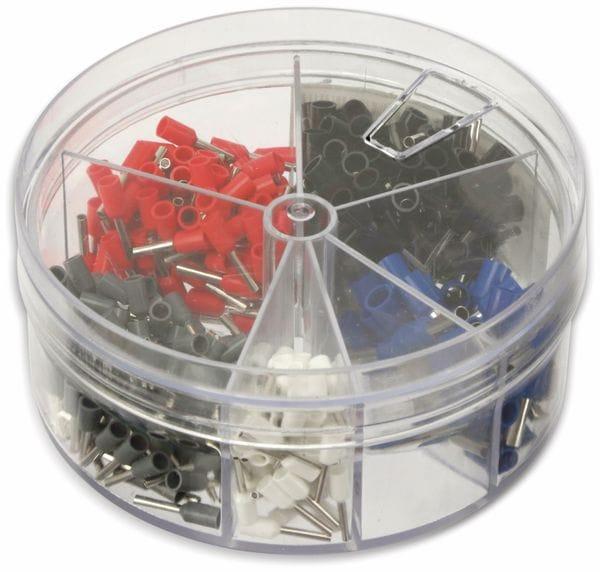 Sortiment Aderendhülsen 0,5 mm² - 2,5 mm², 400 Stück, in Kunststoffbox - Produktbild 2