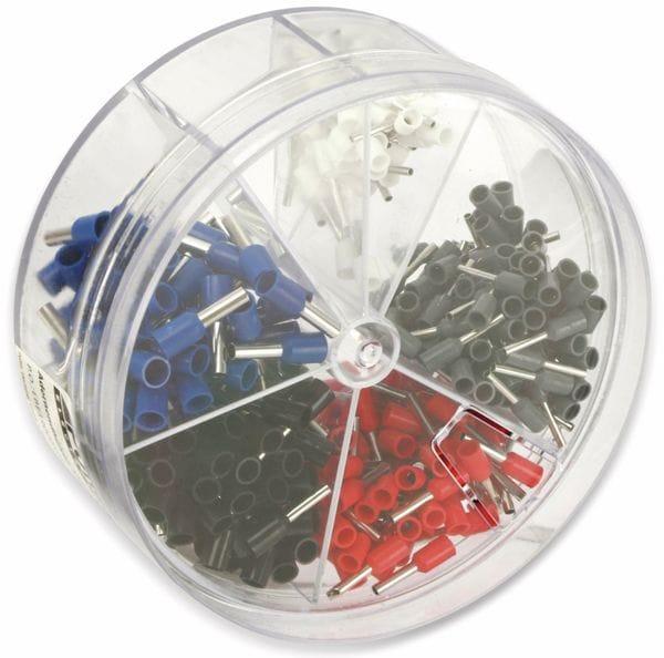 Sortiment Aderendhülsen 0,5 mm² - 2,5 mm², 400 Stück, in Kunststoffbox - Produktbild 3