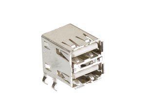 USB-A Doppelbuchse, 90°