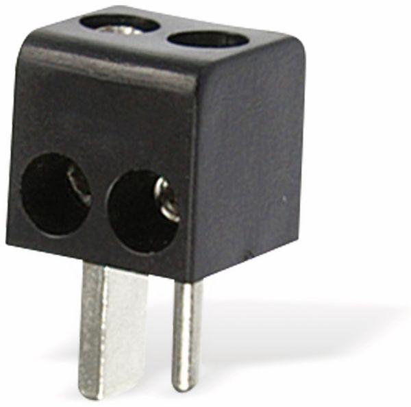 Lautsprecher-Winkelstecker, schwarz, 2 Stück