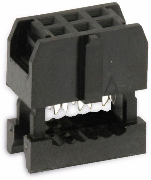 Pfostenbuchse für Flachbandleitung, RM 2,54, 6-polig - Produktbild 1