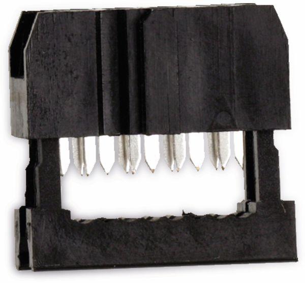 Pfostenbuchse für Flachbandleitung, RM 2,54, 8-polig - Produktbild 1