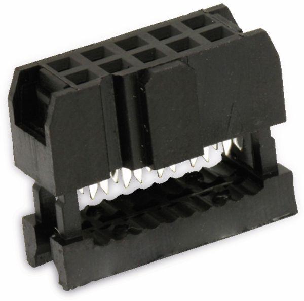 Pfostenbuchse für Flachbandleitung, RM 2,54, 10-polig - Produktbild 1