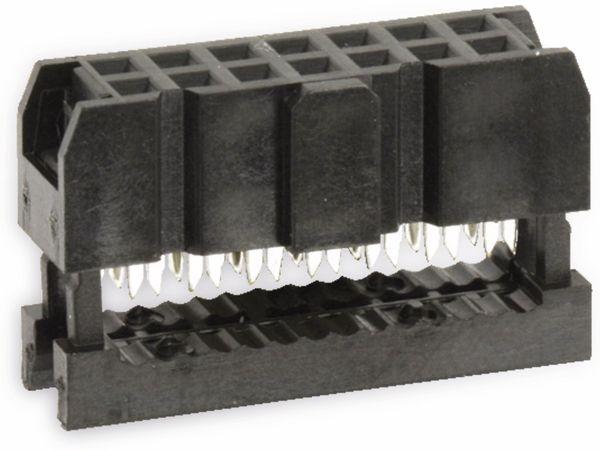 Pfostenbuchse für Flachbandleitung, RM 2,54, 14-polig - Produktbild 1