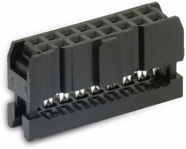 Pfostenbuchse für Flachbandleitung, RM 2,54, 16-polig - Produktbild 1