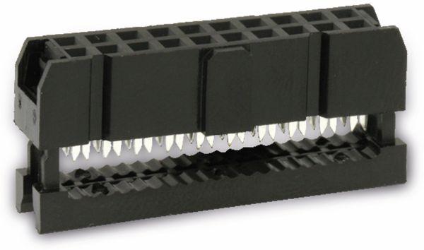 Pfostenbuchse für Flachbandleitung, RM 2,54, 20-polig - Produktbild 1