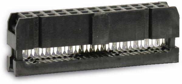 Pfostenbuchse für Flachbandleitung, RM 2,54, 26-polig - Produktbild 1