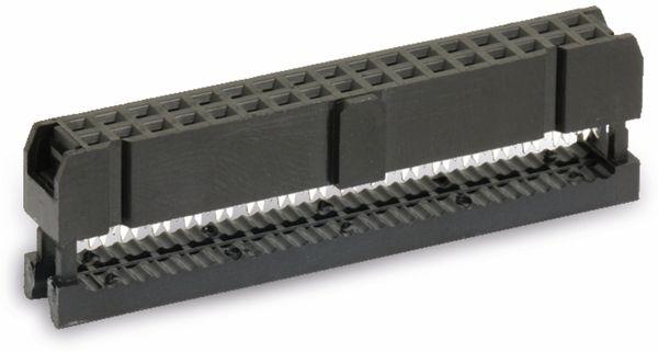 Pfostenbuchse für Flachbandleitung, RM 2,54, 34-polig - Produktbild 1