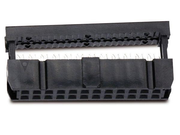 Pfostenbuchse für Flachbandleitung, RM 2,54, 24-polig - Produktbild 1