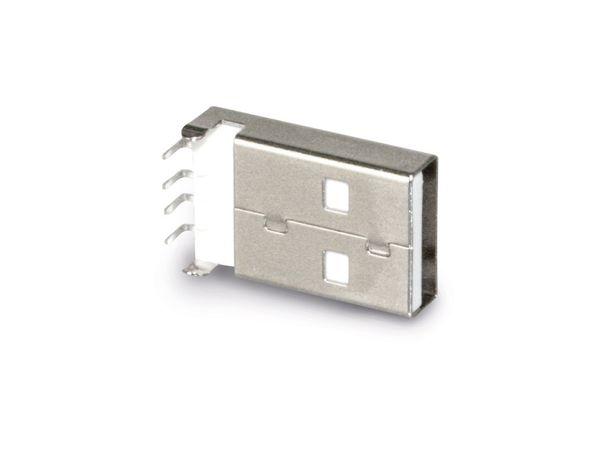 USB-A Einbaustecker, 90°