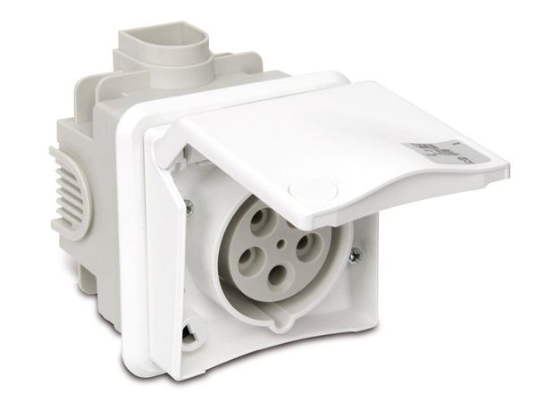 CEE-Unterputzsteckdose PCE, 16 A, 400 V, IP44