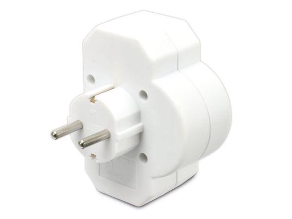 Multisteckdose mit Schalter, horizontal, 16 A, weiß - Produktbild 3
