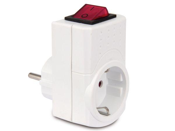 Schutzkontakt-Zwischensteckdose mit Schalter REV 0512085777