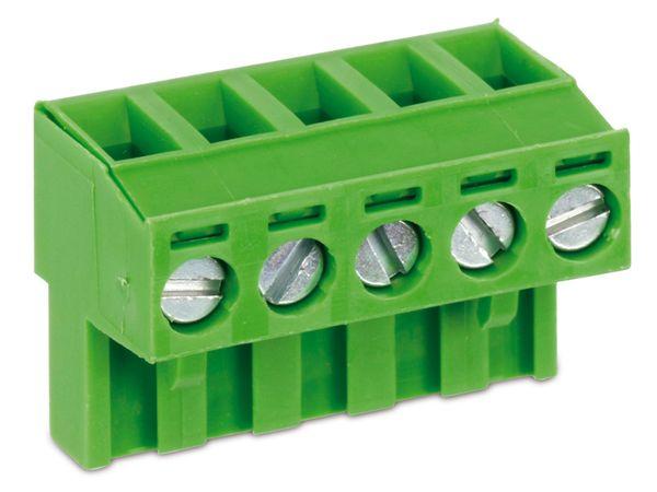 Anschlussklemme PTR AKZ950, 5-polig, grün - Produktbild 1