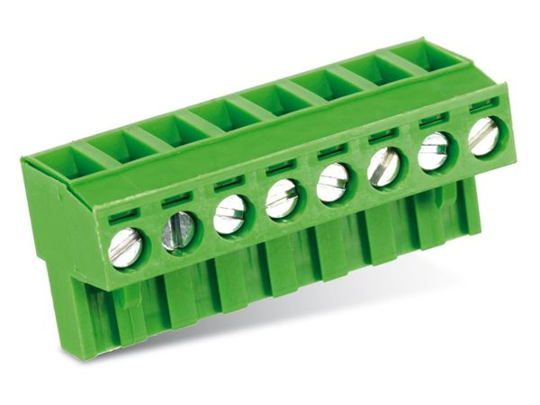 Anschlussklemme PTR AKZ950, 8-polig, grün - Produktbild 1