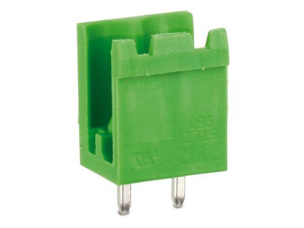 Stiftleiste PTR STLZ950, 2-polig, stehend, grün - Produktbild 2