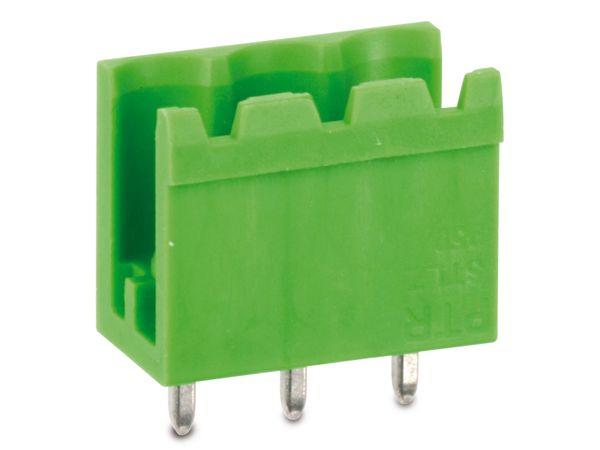 Stiftleiste PTR STLZ950, 3-polig, stehend, grün - Produktbild 1