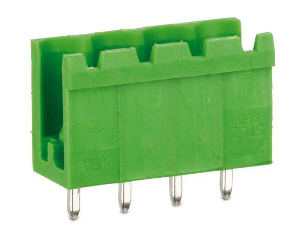 Stiftleiste PTR STLZ950, 4-polig, stehend, grün - Produktbild 1