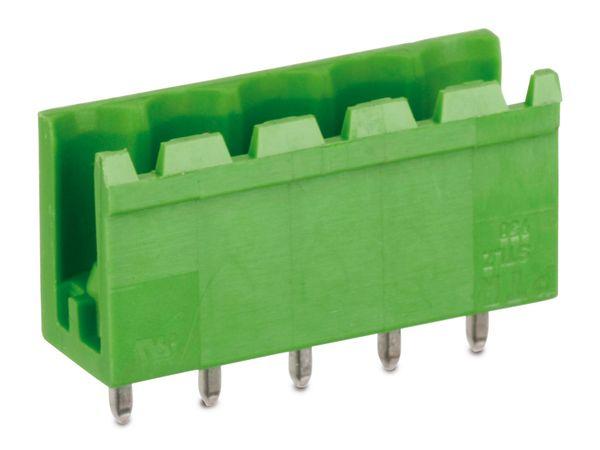 Stiftleiste PTR STLZ950, 5-polig, stehend, grün - Produktbild 1