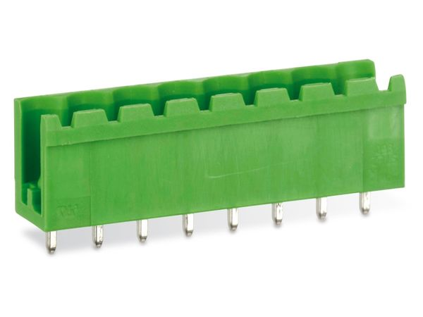 Stiftleiste PTR STLZ950, 8-polig, stehend, grün - Produktbild 1