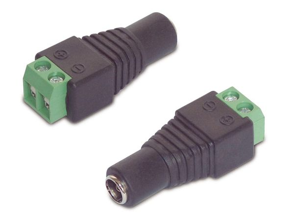 Hohlstecker-Adapter, 5,5/2,1, 2 Stück