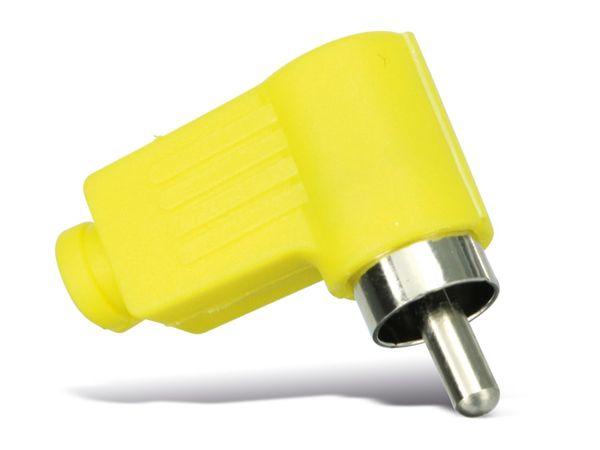 Cinchstecker, 90°, gelb