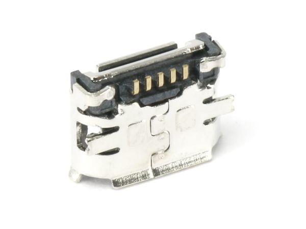 Micro-USB Buchse FCI, Typ B, Version 2.0, SMD, 90° Winkel - Produktbild 1