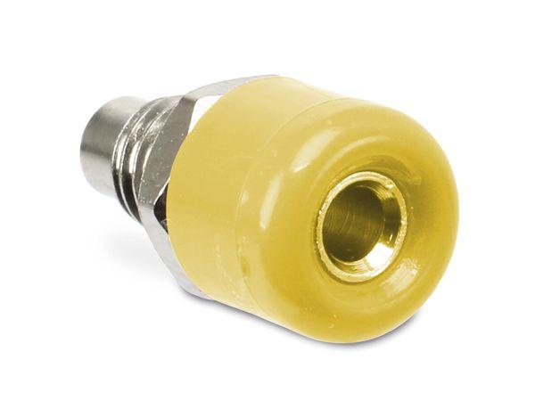 Zwerg-Einbaubuchsen DAYTOOLS TB-2.5KY/5, gelb, 5 Stück - Produktbild 1