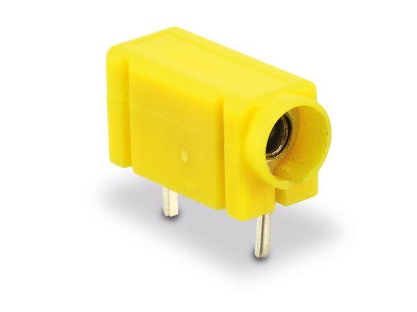 Prüfbuchse 4mm für Printmontage, gelb