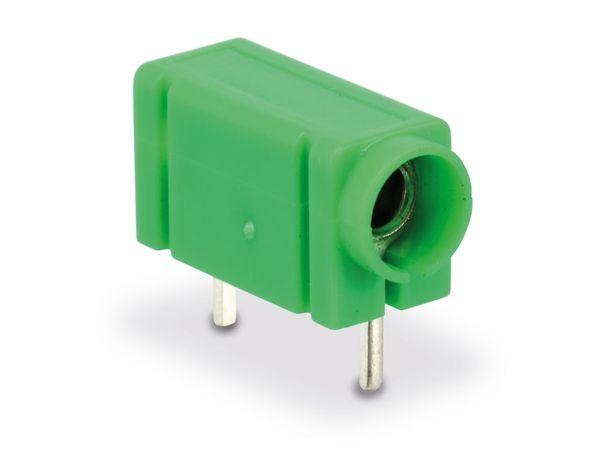 Prüfbuchse 4mm für Printmontage, grün