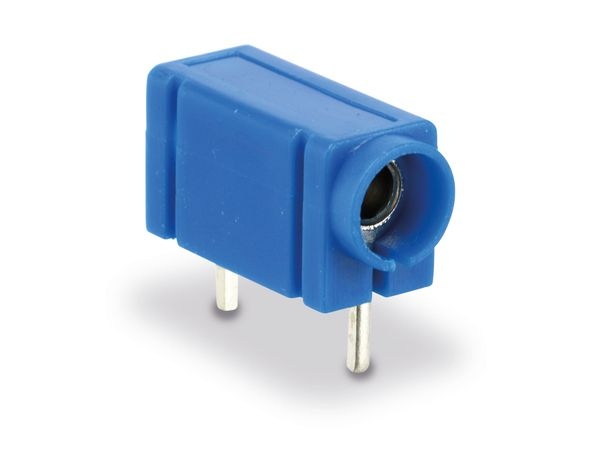 Prüfbuchse 4mm für Printmontage, blau