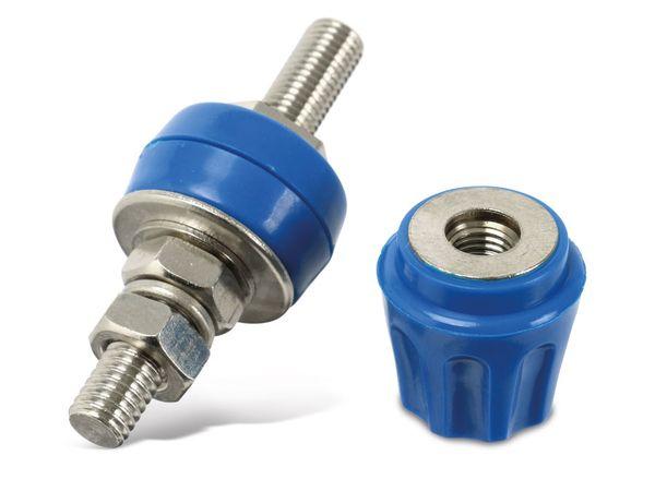 Polklemme, M6, 50 A, 4 mm, blau - Produktbild 1